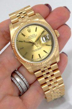 Rolex datejust full gold 36mm