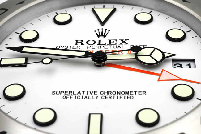 Rolex explorer 2 white display clock