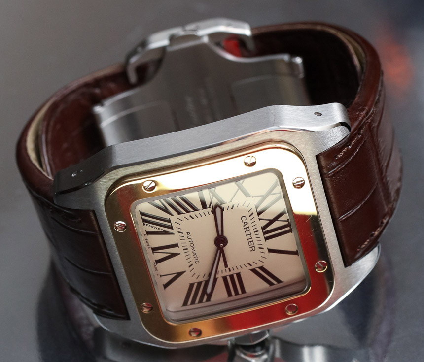 Cartier Santos 100 brown strap