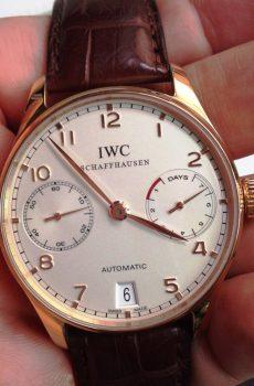 Iwc seven days white rose gold white dial