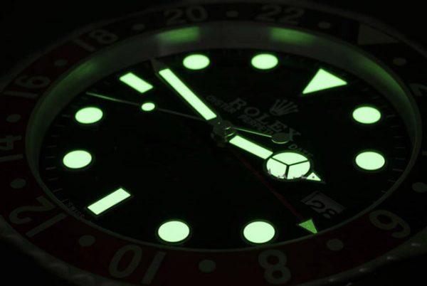 Rolex submariner green display clock