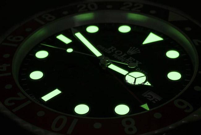 Rolex submariner blue display clock