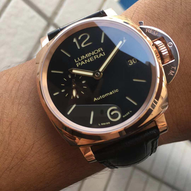 Panerai Luminor rose gold
