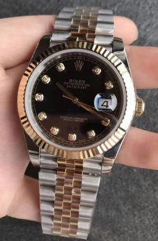 Rolex Datejust jubilee black face