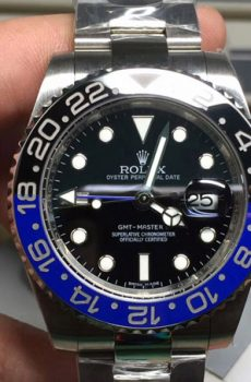 Rolex gmt batman blue black