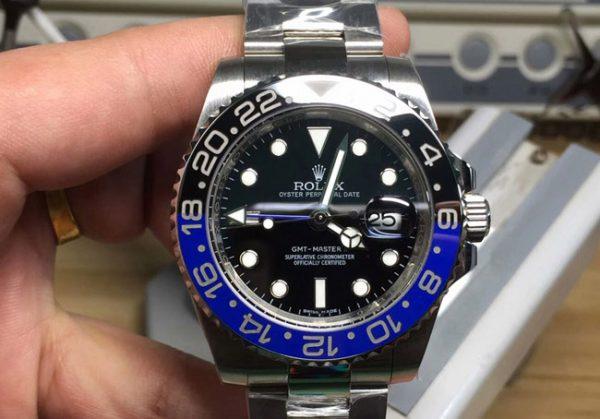 Rolex gmt batman blue black