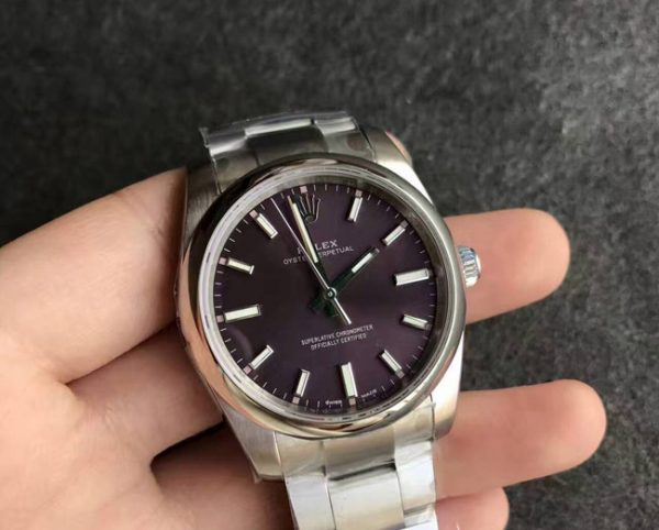 Rolex oyster perpetual purple dial