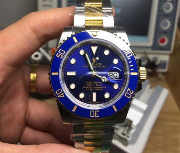 Rolex submariner blue two tone