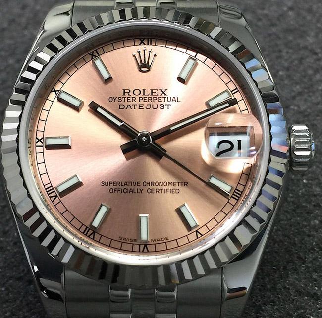 Rolex datejust salmon jubilee