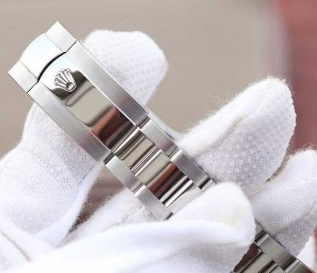 Rolex datejust white face steel with diamonds