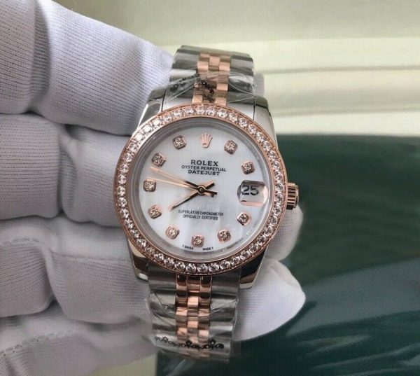 Rolex datejust jubilee two tone rose gold