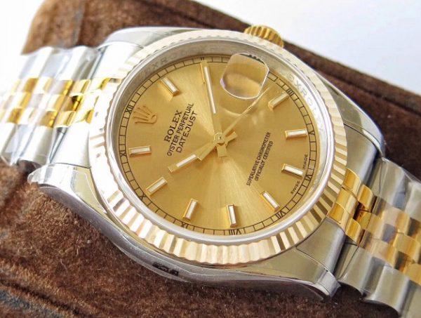 Rolex Datejust jubilee gold face