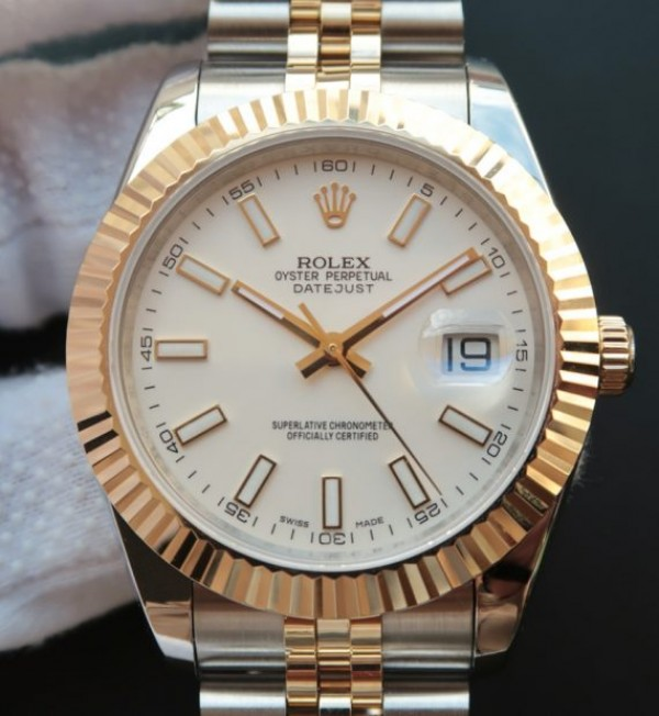Rolex Datejust jubilee white face