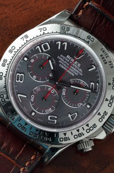 Rolex Daytona brown strap grey dial