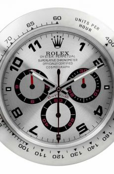 Rolex daytona white panda display clock