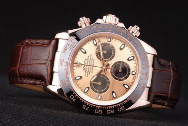 Rolex Daytona everose brown strap