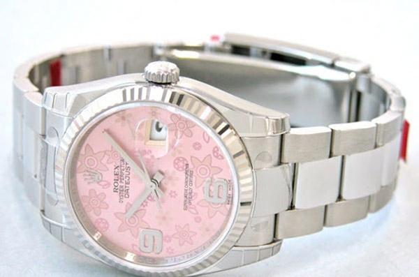Rolex datejust pink flowers 36mm