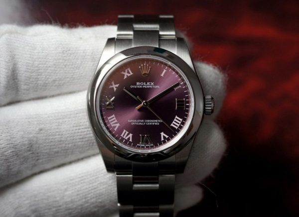 Rolex oyster purple 31mm