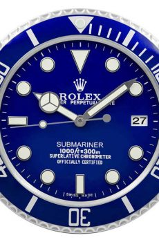 Rolex submariner blue display clock