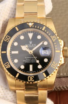Rolex submariner black full gold