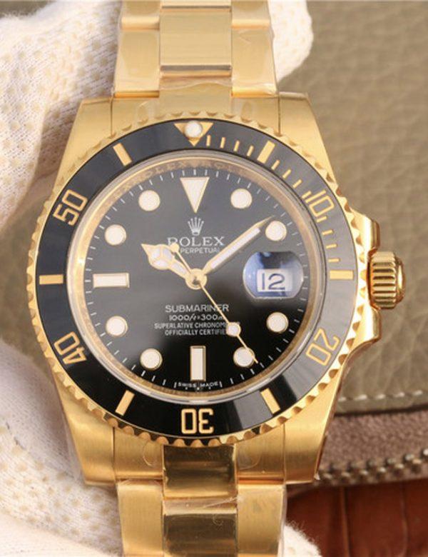 Rolex submariner black full gold