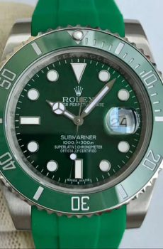 Rolex submariner green hulk rubber b