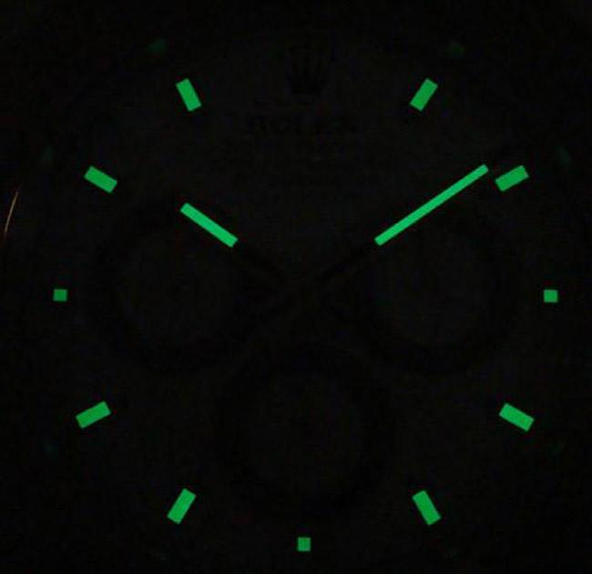 Rolex daytona white panda display clock