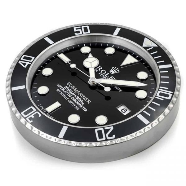 Rolex submariner black display clock