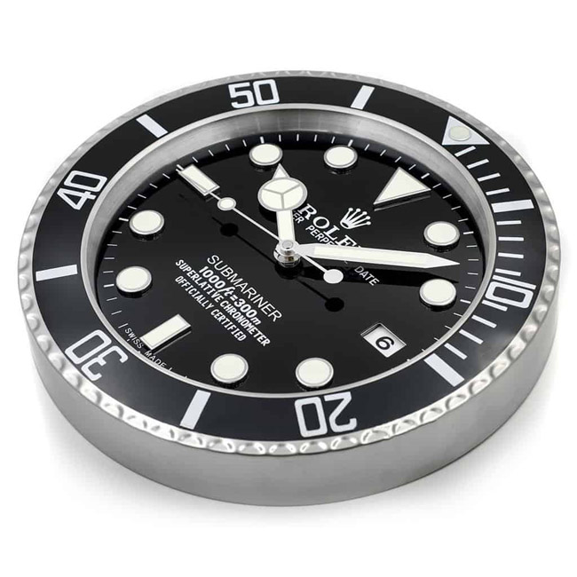 Rolex submariner black display clock