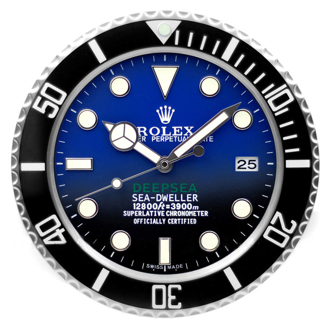 Rolex Deep sea blue display clock