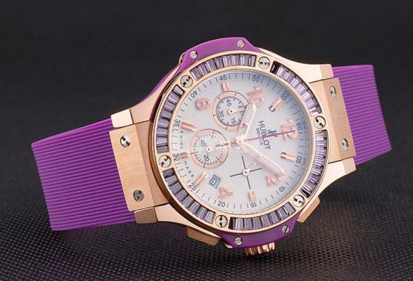 Hublot big bang ladies purple