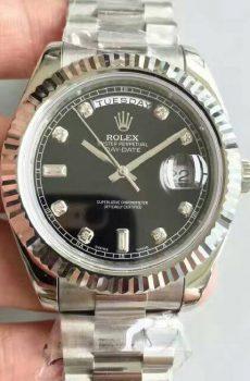 Rolex Daydate black diamonds