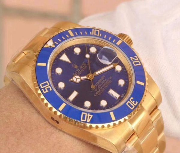 Rolex submariner blue full gold