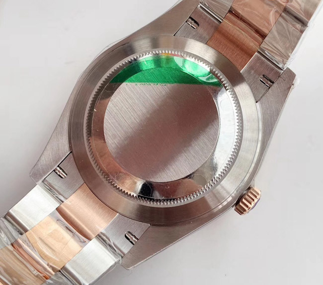 Rolex datejust jubilee two tone rose gold diamonds 36mm