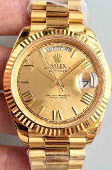 Rolex Daydate gold roman dial