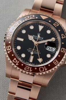 Rolex gmt full rose gold