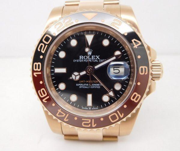 Rolex gmt full rose gold
