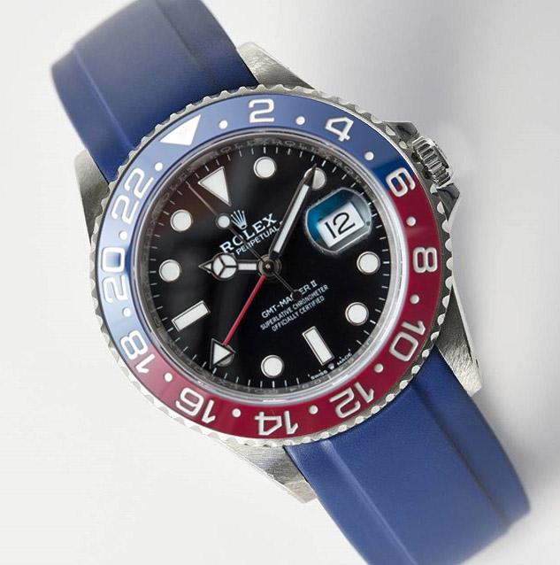 Rolex gmt pepsi master 2 rubber
