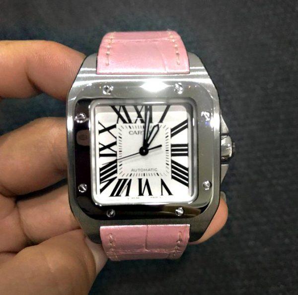 Cartier Santos 100 pink