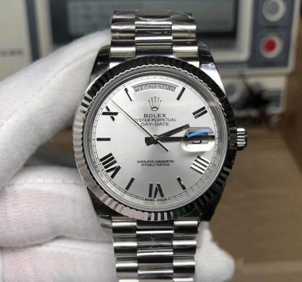 Rolex Daydate silver