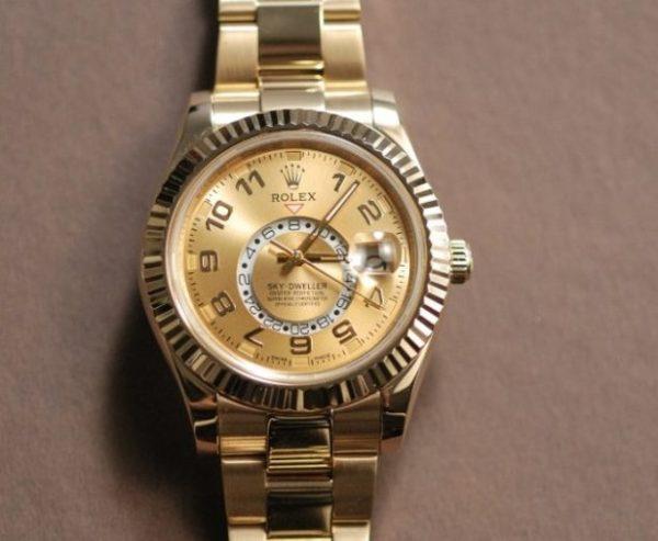 Rolex sky dweller gold