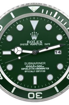 Rolex submariner green display clock